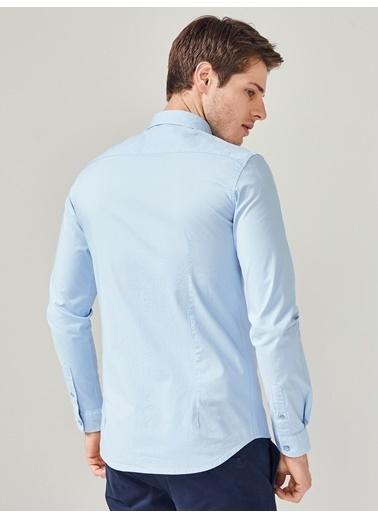 Xint Uzun Kollu Klasik Gömlek Mavi